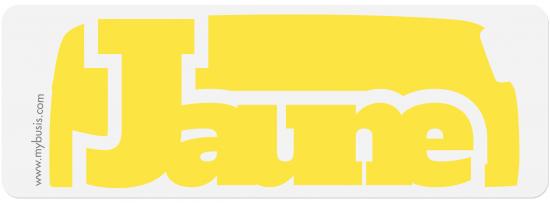 Autocollant Bus jaune
