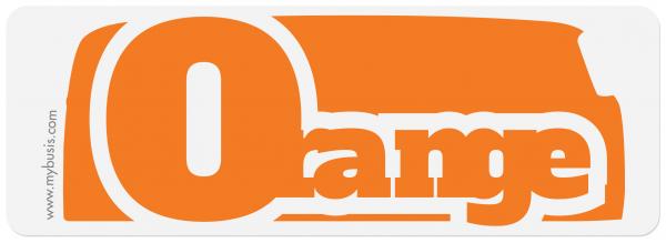 Autocollant Bus orange