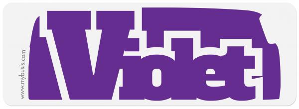 Autocollant Bus violet